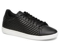 Courtset W Woven Sneaker in schwarz