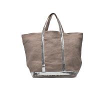 Cabas Lin paillettes M+ Handtasche in grau