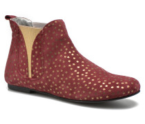 Patch gold Stiefeletten & Boots in weinrot