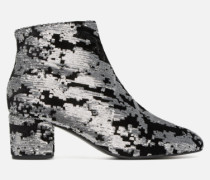 80's Disco Girl Bottines à Talons #7 Stiefeletten & Boots in silber