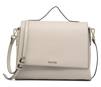 Frame Top Handle Satchel Handtasche in grau