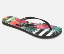 Slim Tropical Floral Zehensandalen in mehrfarbig