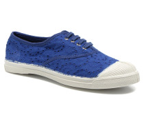Tennis Broderie Anglaise Sneaker in blau