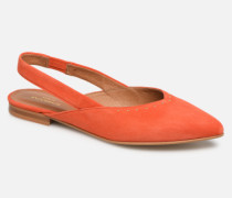 Eva Pump Ballerinas in orange