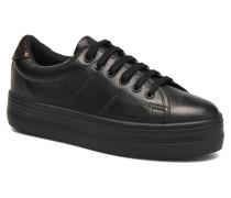 Plato Sneaker Nappa in schwarz