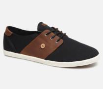 Cypress Cotton Leather Sneaker in schwarz
