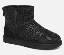 Classic Mini Sparkle Graffiti Stiefeletten & Boots in schwarz