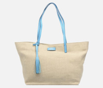 Shopper Handtasche in beige