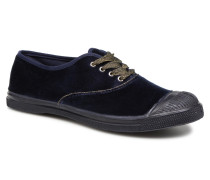 Tennis Velvet Piping Sneaker in blau