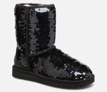 W Classic Short Sequin Stiefeletten & Boots in schwarz