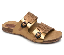 Anabi Clogs & Pantoletten in goldinbronze