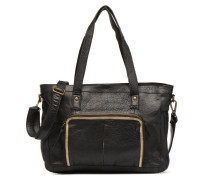 Inda Leather Shoulder Bag Handtasche in schwarz