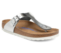 Gizeh Cuir Soft Footbed W Sandalen in silber
