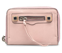 MINI REGAN ZIP WALLET in rosa