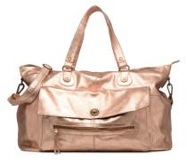 Totally Royal leather Travel bag Handtasche in goldinbronze