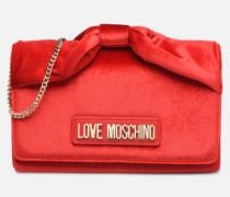 EVENING BAG VELVET Handtasche in rot