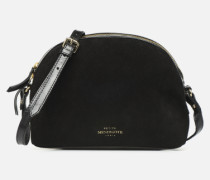 Sac Lunch Cow nappa & patent leather Handtasche in schwarz