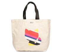 KinSTRIPES CANVAS SHOPPER Handtasche in weiß