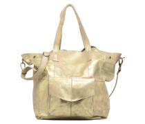 Vanity Leather Big bag Foil Handtasche in goldinbronze