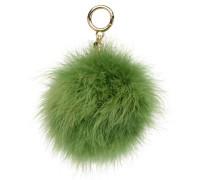 Charm Fur Pompom Portemonnaies & Clutches für Taschen in grün
