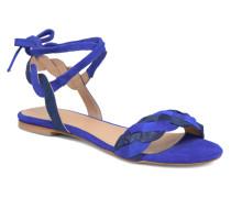 Plagettes Tressées Sandalen in blau