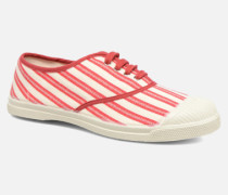 Tennis Rayures Transat Sneaker in rot