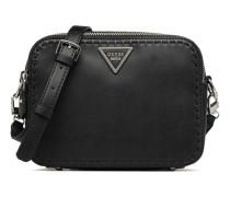 Sawyer Crossbody Top Zip Handtasche in schwarz