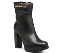 Ankle Boot Gold metal detail Stiefeletten & Boots in schwarz