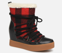 TRISH CHECK WOOL Stiefeletten & Boots in rot