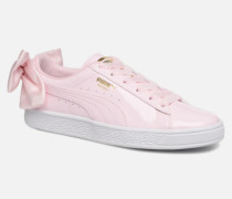 Basket Bow Patent Sneaker in rosa