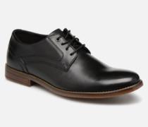 Sp3 Plain Toe C Schnürschuhe in schwarz