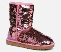 W Classic Short Sequin Stiefeletten & Boots in rosa