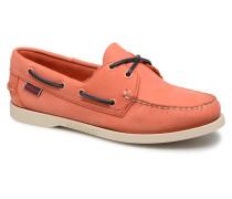 Docksides Schnürschuhe in orange