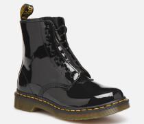 1460 Pascal Front Zip Stiefeletten & Boots in schwarz