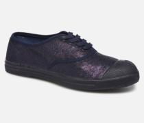 Tennis Lacets Shiny Sneaker in blau