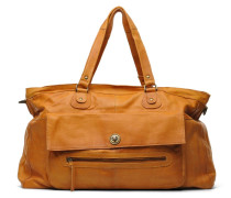 Totally Royal leather Travel bag Handtasche in braun