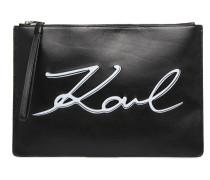 Pochette Signature Portemonnaies & Clutches für Taschen in schwarz
