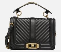 Small Love Crossbody Handtasche in schwarz