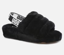 Fluff Yeah Slide Hausschuhe in schwarz