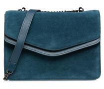 Tahira Suede Crossbody Handtasche in blau