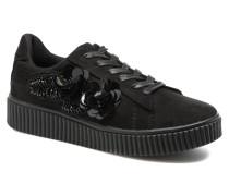 Black Flowers Sneaker in schwarz