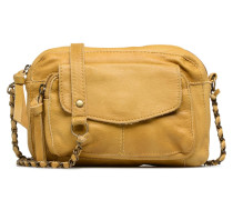 Naina Leather Crossover Handtasche in gelb