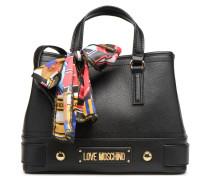 LETTERING LM Porté main Handtasche in schwarz