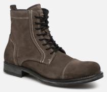 Jack & Jones JFWRUSSEL Suede Stiefeletten Boots in schwarz