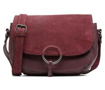 Joline Leather Crossbody Handtasche in weinrot
