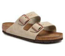 Arizona Cuir Suede Soft Footbed M Sandalen in braun