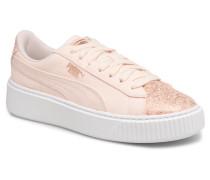 Basket Platform Canvas Wn's Sneaker in rosa
