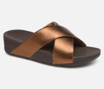 Lulu Cross Slide Clogs & Pantoletten in goldinbronze