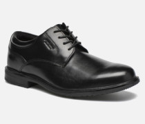 Esntial Dtl II Plain Toe Schnürschuhe in schwarz