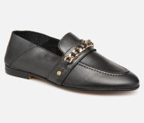 Chain Detail Loafer Slipper in schwarz